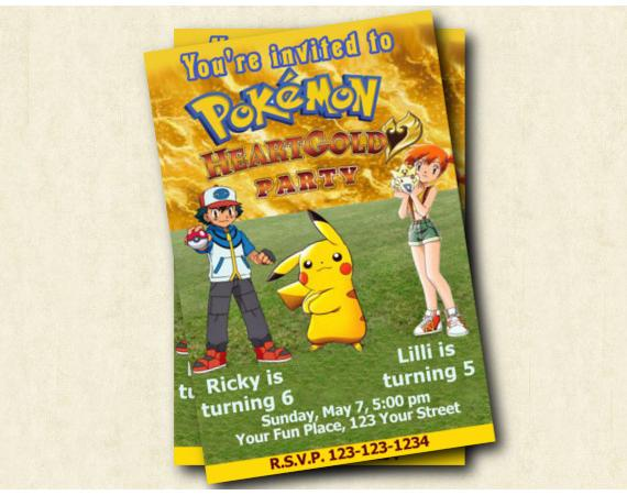 Pokemon Invitation | Personalized Digital Card