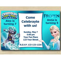 Twin Skylanders and Frozen Invitation | FreezeBlade