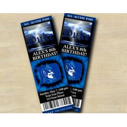 Duke Blue Devils Ticket Invitation