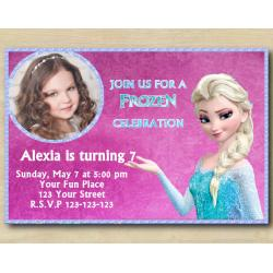 Frozen Invitation with Photo