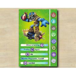 Skylanders Game Card Invitation | BoomJet