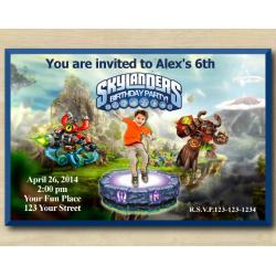 Skylanders Invitation with Photo | MagnaBuckler, TreeRex
