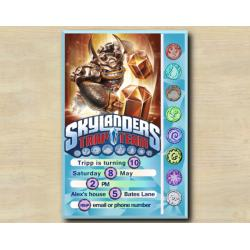Skylanders Game Card Invitation | Wallop