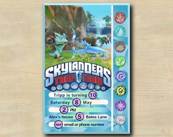 Skylanders Game Card Invitation | Snapshot | Personalized Digital Card