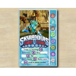 Skylanders Game Card Invitation | Snapshot
