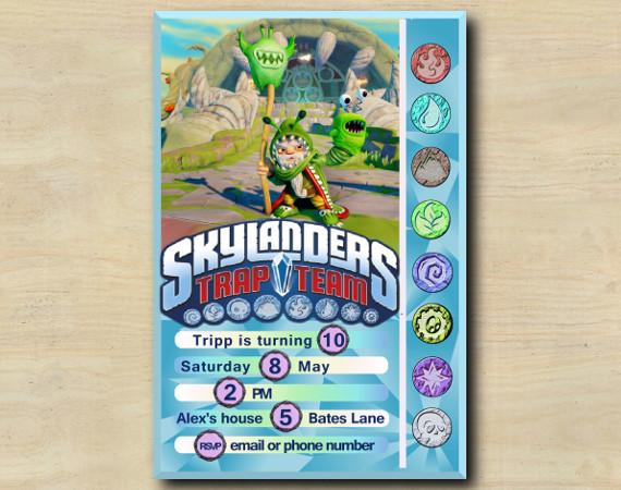 Skylanders Game Card Invitation | ChompyMage | Personalized Digital Card