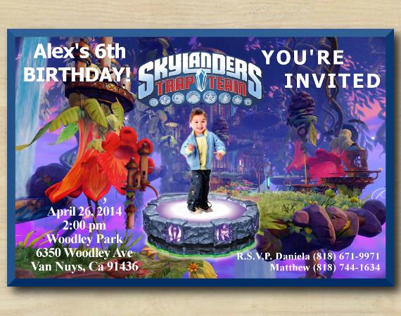 Skylanders Invitation with Photo | Personalized Digital Card