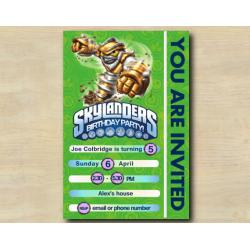 Skylanders Game Card Invitation | GrillaDrilla