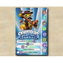 Skylanders Game Card Invitation | RattleShake