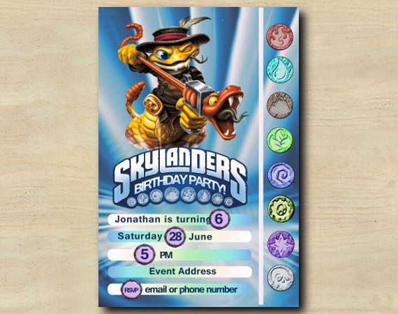 Skylanders Game Card Invitation | RattleShake | Personalized Digital Card