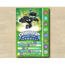 Skylanders Game Card Invitation | StealthElf