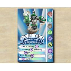 Skylanders Game Card Invitation | DoomStone