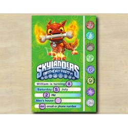 Skylanders Game Card Invitation | HotDog