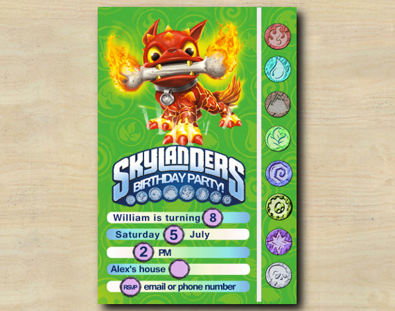 Skylanders Game Card Invitation | HotDog | Personalized Digital Card