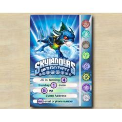 Skylanders Game Card Invitation | Zap