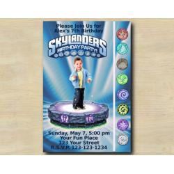 Skylanders Game Card Invitation with Photo