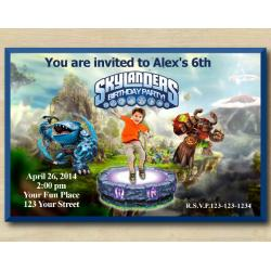 Skylanders Invitation with Photo | Thumpback, TreeRex