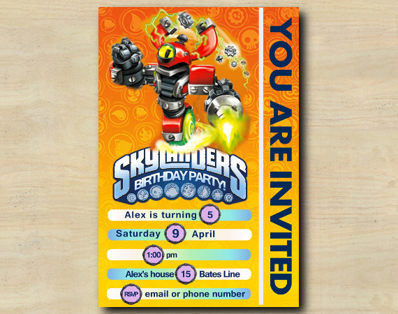 Skylanders Game Card Invitation | MagnaCgarge | Personalized Digital Card