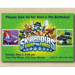 Skylanders Invitation | Ninjini, StealthElf.