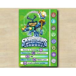 Skylanders Game Card Invitation | DuneBug