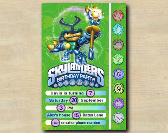 Skylanders Game Card Invitation | DuneBug | Personalized Digital Card