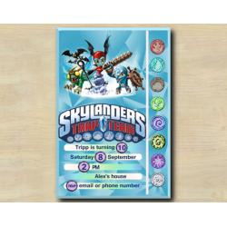 Skylanders Game Card Invitation