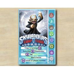 Skylanders Game Card Invitation | Kaos
