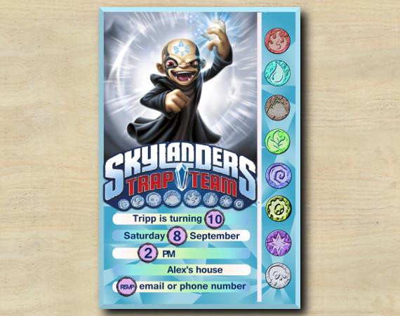 Skylanders Game Card Invitation