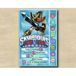 Skylanders Game Card Invitation  | KryptKing