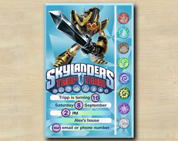 Skylanders Game Card Invitation  | KryptKing | Personalized Digital Card