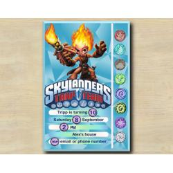 Skylanders Game Card Invitation | Torch