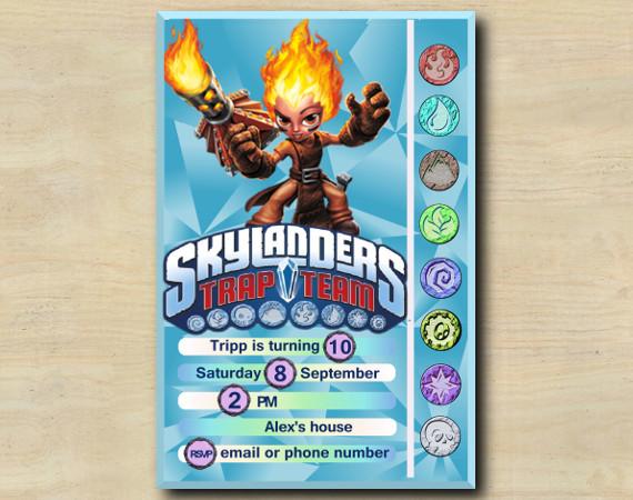 Skylanders Game Card Invitation | Torch | Personalized Digital Card