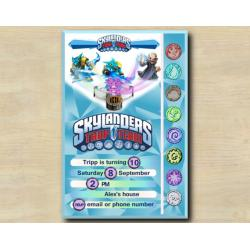 Skylanders Game Card Invitation | SnapShot, Kaos