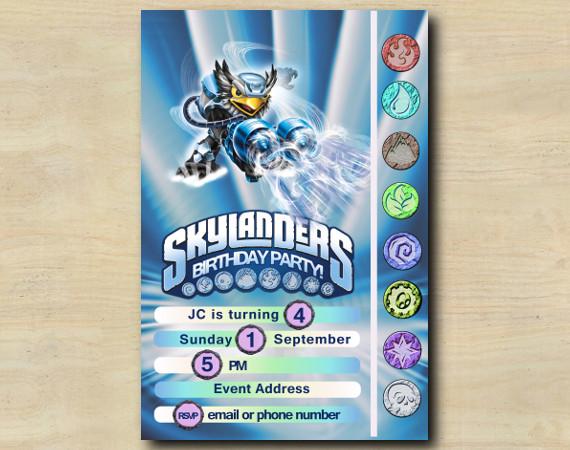 Skylanders Game Card Invitation | JetVac | Personalized Digital Card