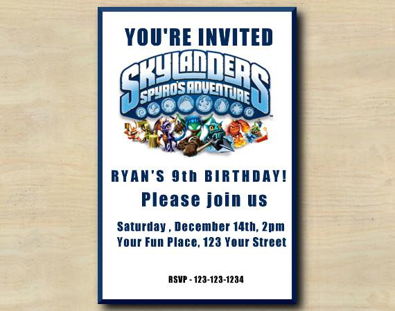 Skylanders Invitation | Personalized Digital Card