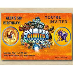 Skylanders Invitation | Sunburn, Spyro