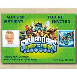 Skylanders Invitation with Photo | WashBuckler
