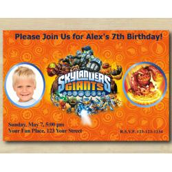 Skylanders Invitation with Photo | Eruptor