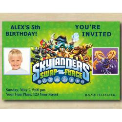 Skylanders Invitation with Photo | Spyro