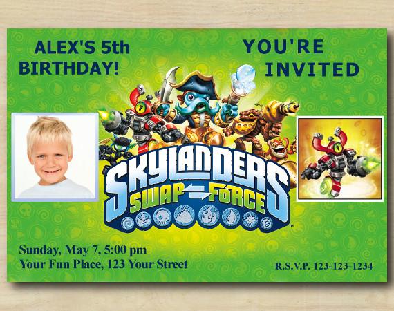 Skylanders Invitation with Photo | MagnaCgarge Birthday Invitation | Personalized Digital Card