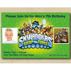 Skylanders Invitation with Photo | RubbleRouser