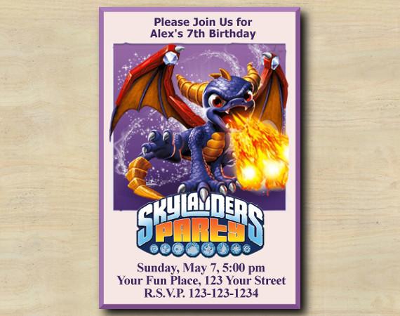 Skylanders Invitation | Spyro | Personalized Digital Card