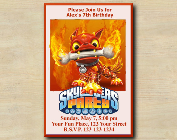 Skylanders Invitation | HotDog | Personalized Digital Card