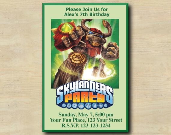 Skylanders Invitation | TreeRex | Personalized Digital Card
