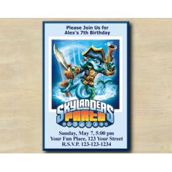 Skylanders Invitation | WashBuckler