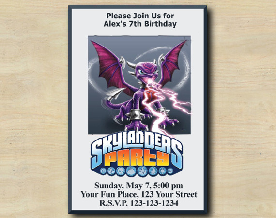 Skylanders Birthday Invitation
