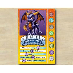 Skylanders Game Card Invitation | Spyro
