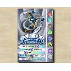Skylanders Game Card Invitation | ChopChop