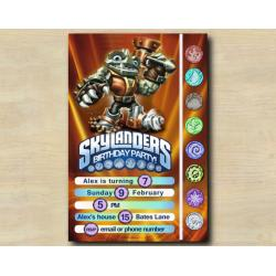Skylanders Game Card Invitation | RubbleRouser