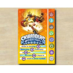 Skylanders Game Card Invitation | Bouncer